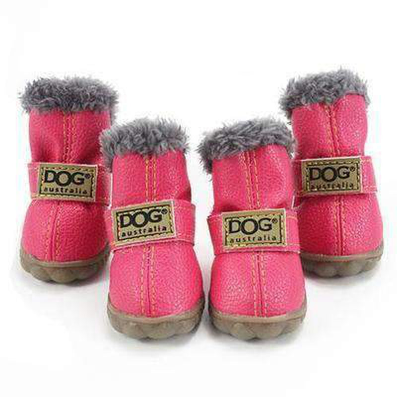 Waterproof Dog Ugg Boots - New Colors Pet Clothes Oberlo Pink 1
