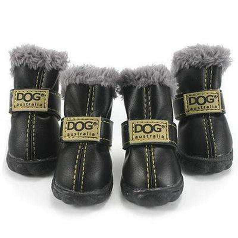 Waterproof Dog Ugg Boots - New Colors Pet Clothes Oberlo Black 1