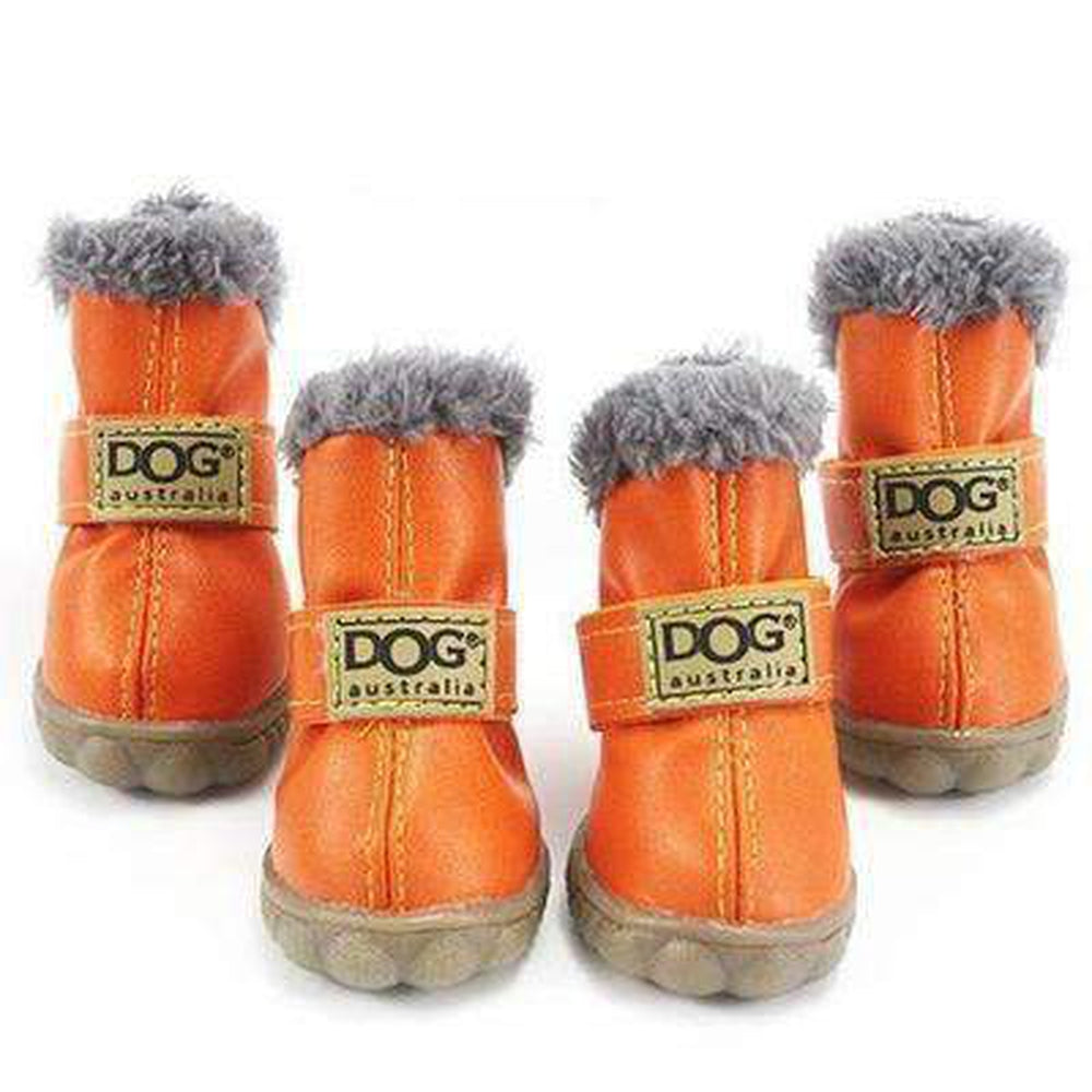 Waterproof Dog Ugg Boots - New Colors Pet Clothes Oberlo Orange 1