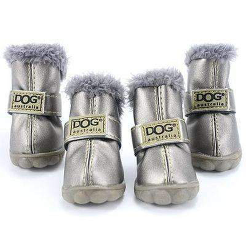 Waterproof Dog Ugg Boots - New Colors Pet Clothes Oberlo Silver 1