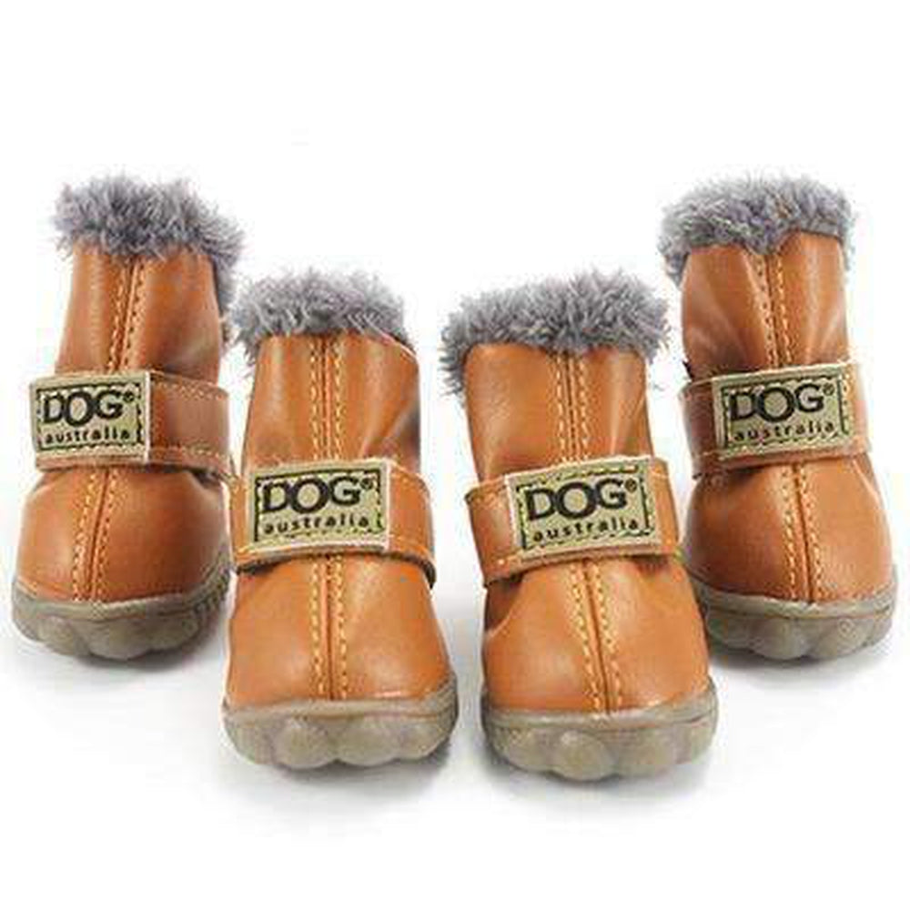 Waterproof Dog Ugg Boots - Brown, Black, Pink, Blue Pet Clothes Oberlo Bronze 4