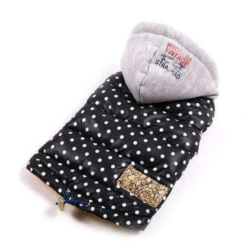 Polka Dot Warm Down Hoodie Pet Clothes Oberlo