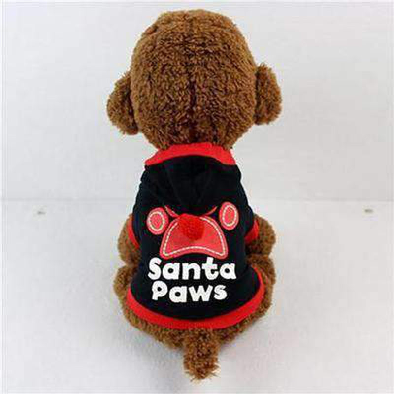 Santa Paws Pom Pom Hoodie Pet Clothes Oberlo Black L