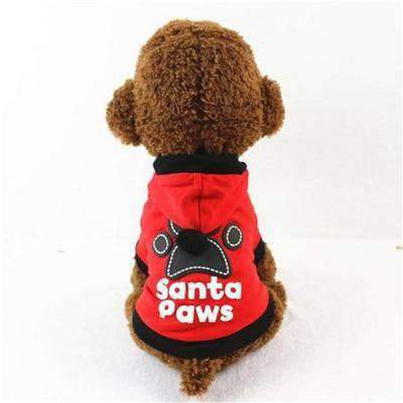 Santa Paws Pom Pom Hoodie Pet Clothes Oberlo Red L