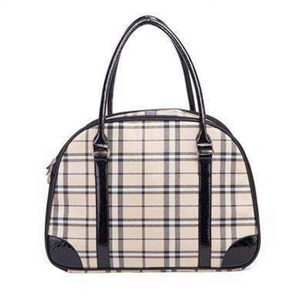 Burberry Look Pet Carry Tote Shoulder Bag, Pet Accessories, Furbabeez, [tag]