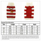 Christmas Striped Reindeer Dog Sweater, Pet Clothes, Furbabeez, [tag]