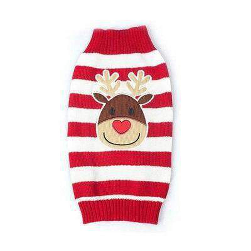 Rudolf Red Striped Turtleneck Sweater Pet Clothes Oberlo L