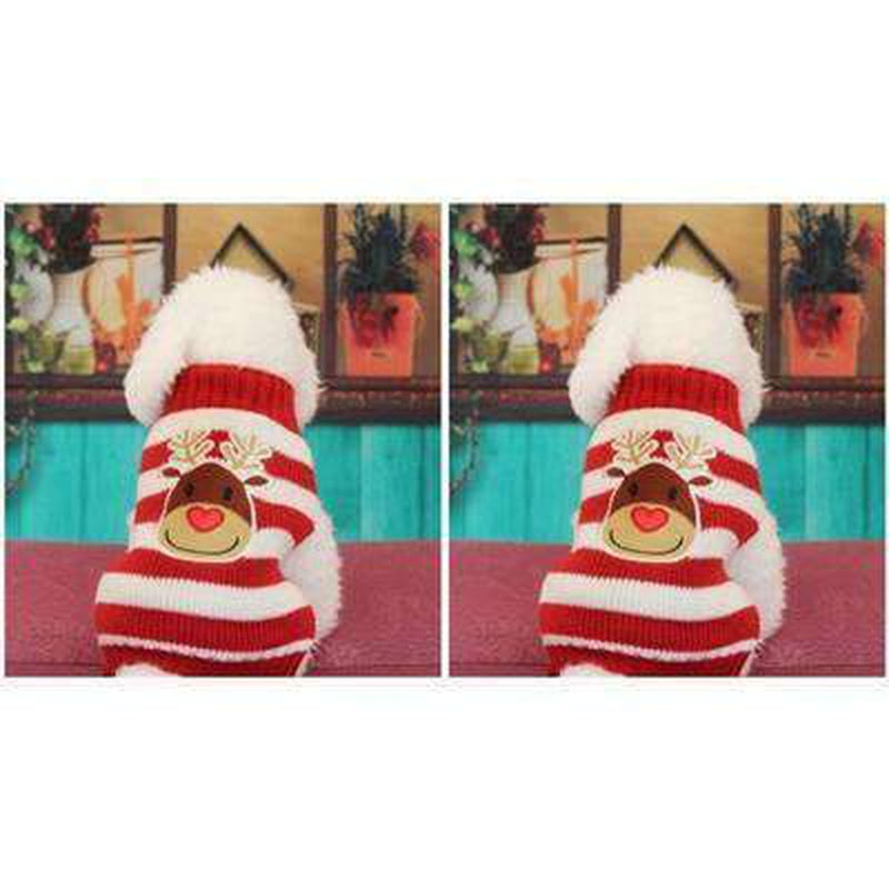 Rudolf Red Striped Turtleneck Sweater Pet Clothes Oberlo