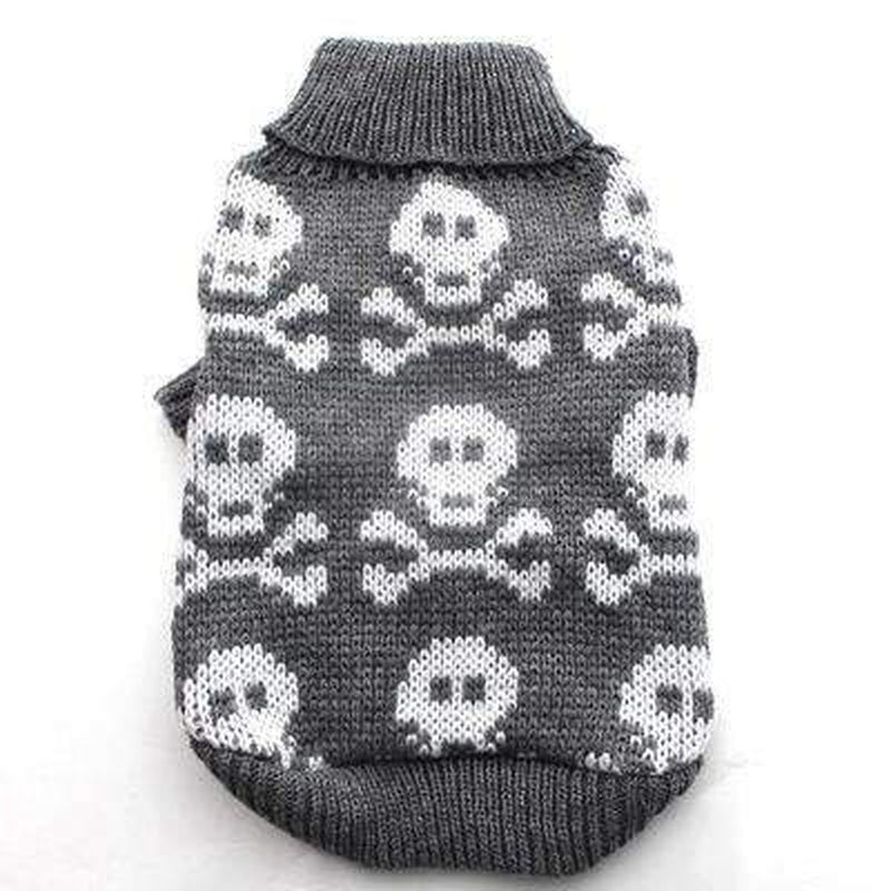Skulls Knit Dog Turtleneck Sweater Pet Clothes Oberlo