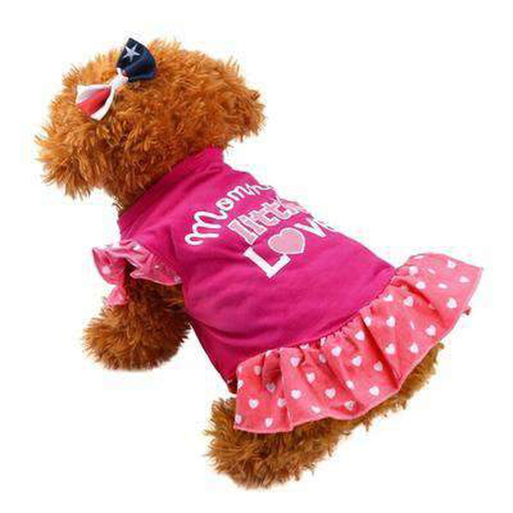 Casual Summer Dog Dress with Polka Dot Skirt, Pet Clothes, Furbabeez, [tag]