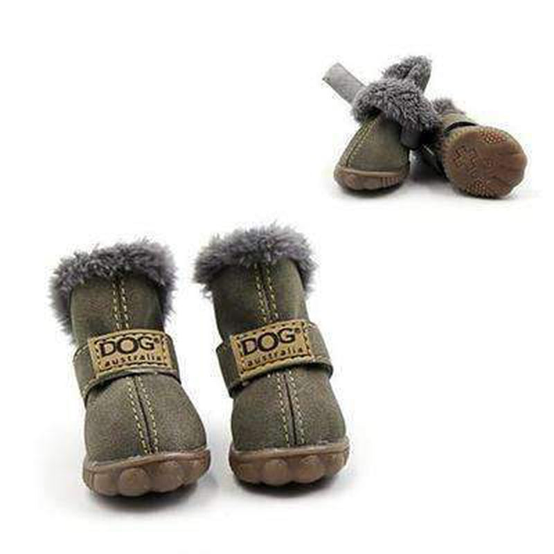 Waterproof Dog Ugg Boots - New Colors Pet Clothes Oberlo Green 1