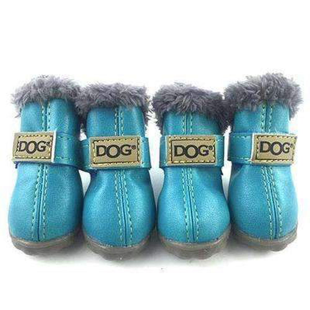 Waterproof Dog Ugg Boots - New Colors Pet Clothes Oberlo Blue 1