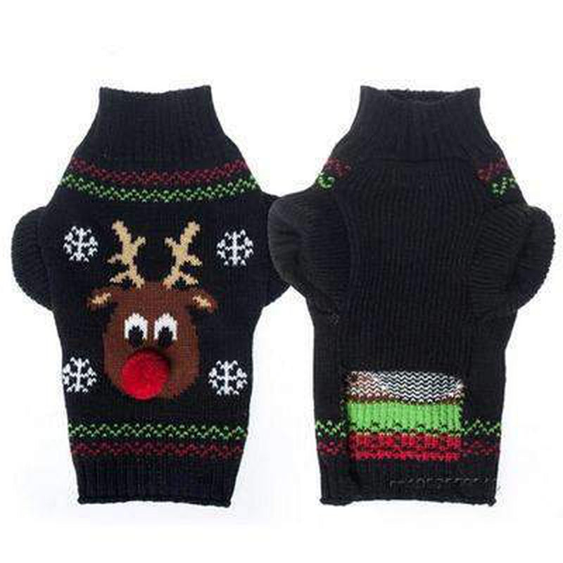 Rudolph Red Nose Ugly Christmas Dog Sweater Pet Clothes Oberlo