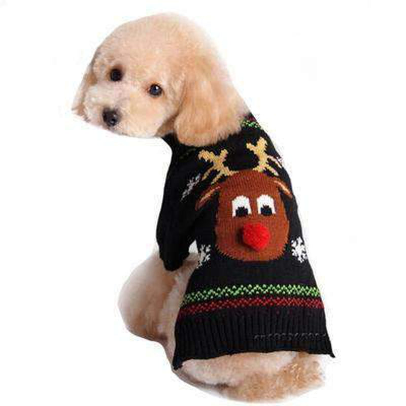 Rudolph Red Nose Ugly Christmas Dog Sweater Pet Clothes Oberlo XS