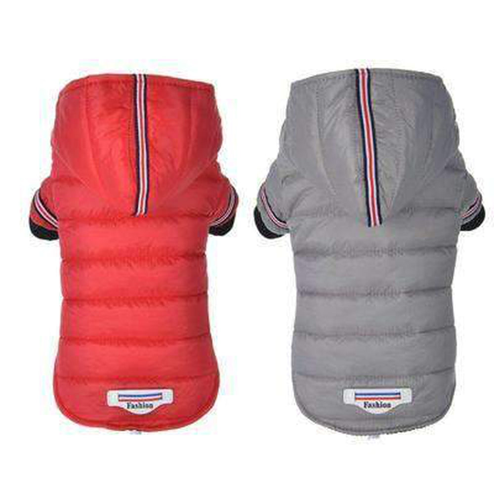 Waterproof Puffer Coat with Stripe trim