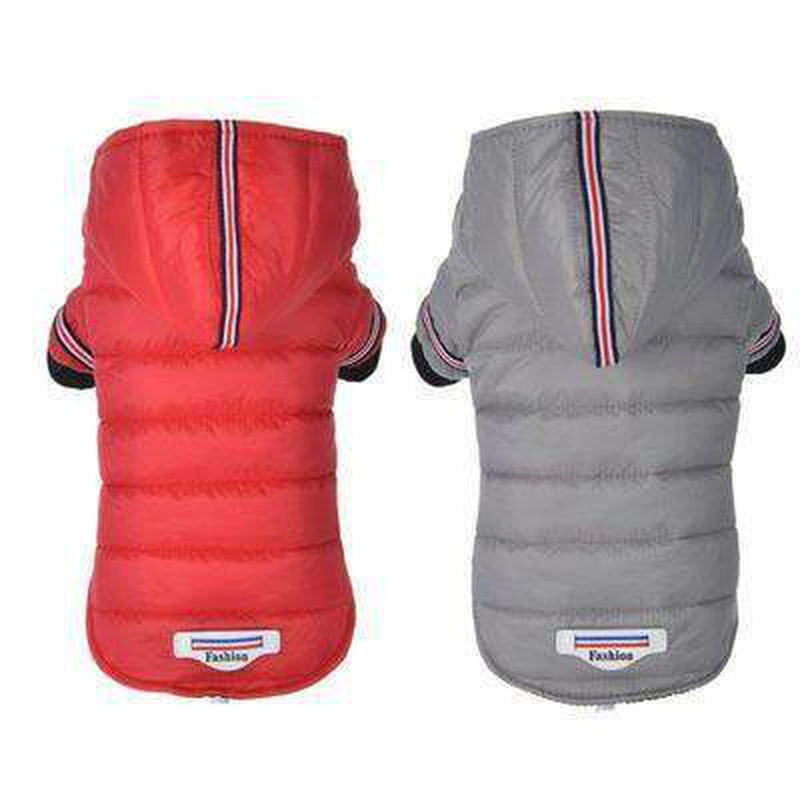 Waterproof Puffer Coat with Stripe trim Pet Clothes Oberlo