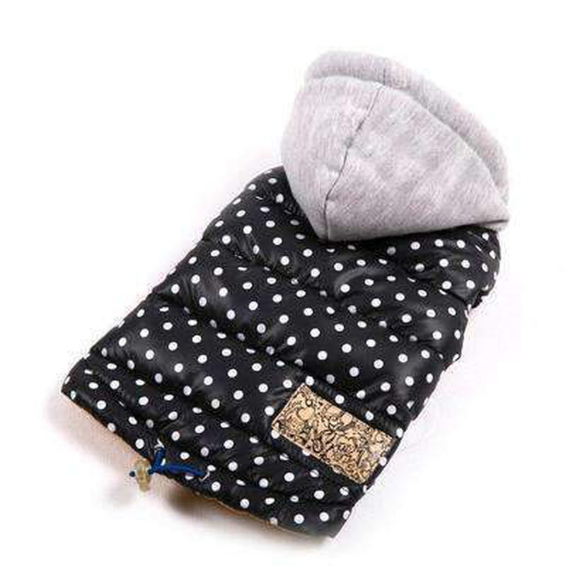 Polka Dot Warm Down Hoodie, Pet Clothes, Furbabeez, [tag]