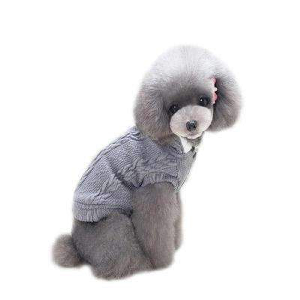 Cable Knit Hooded Coat, Pet Clothes, Furbabeez, [tag]