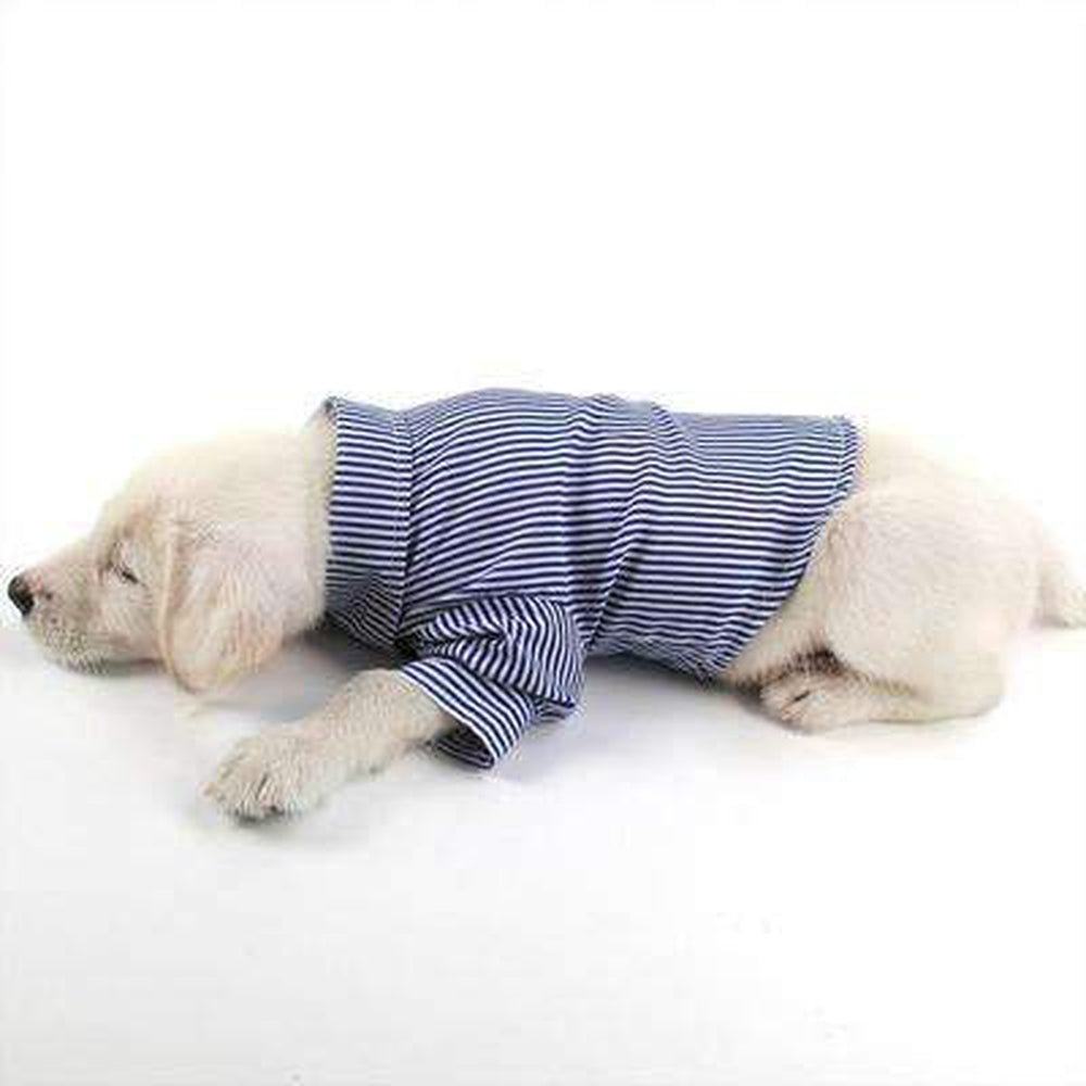 Stripe Business Dog Shirt, Pet Clothes, Furbabeez, [tag]