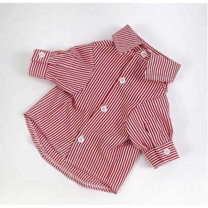 Stripe Business Dog Shirt Pet Clothes Oberlo Red X-Small