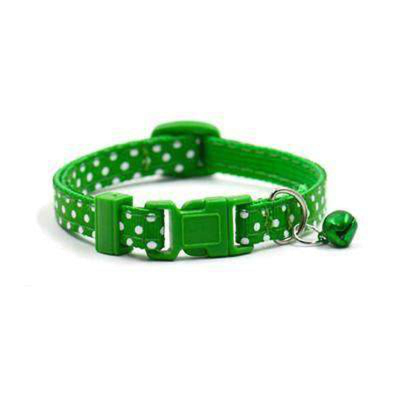 Polka Dot Cat Collar with Bell Collars and Leads Oberlo US Green