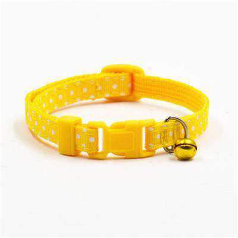 Polka Dot Cat Collar with Bell Collars and Leads Oberlo US Yellow