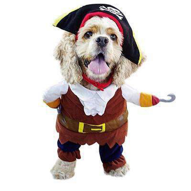 Walking Pirate Halloween Dog Costume Pet Clothes Oberlo