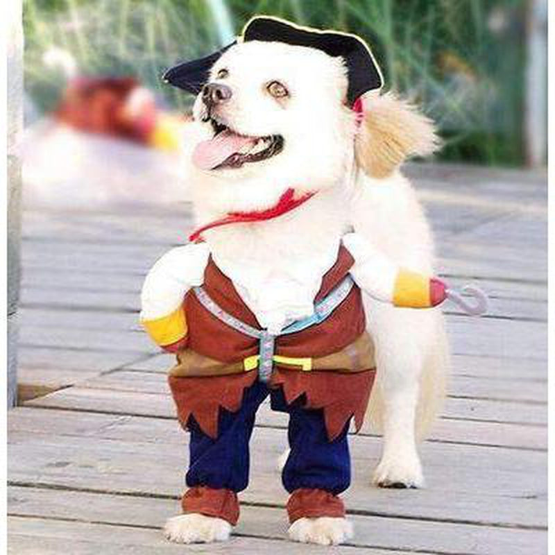 Walking Pirate Halloween Dog Costume, Pet Clothes, Furbabeez, [tag]