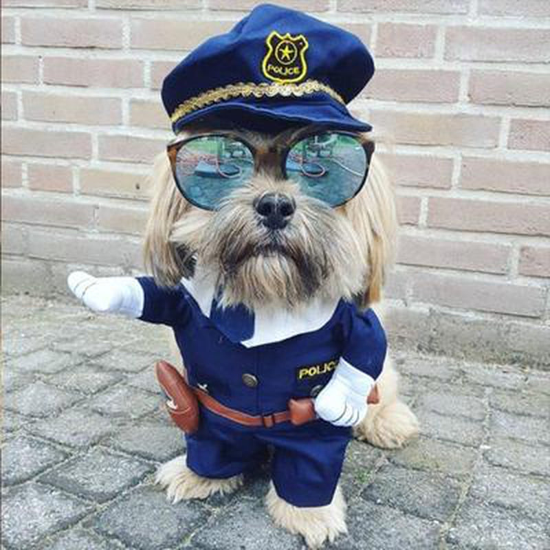 Dog Police Costume, Pet Clothes, Furbabeez, [tag]