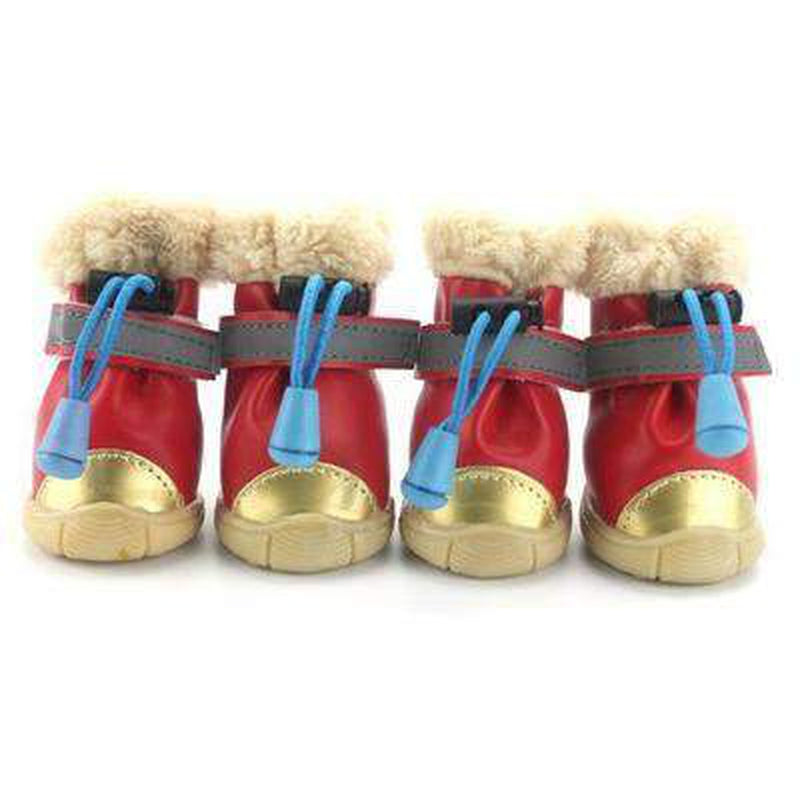 Waterproof Metallic Ugg Boots Pet Clothes Oberlo Red L