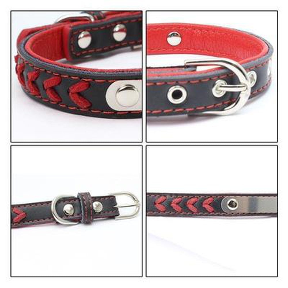 Personalized Leather Dog Collar Collars and Leads Oberlo