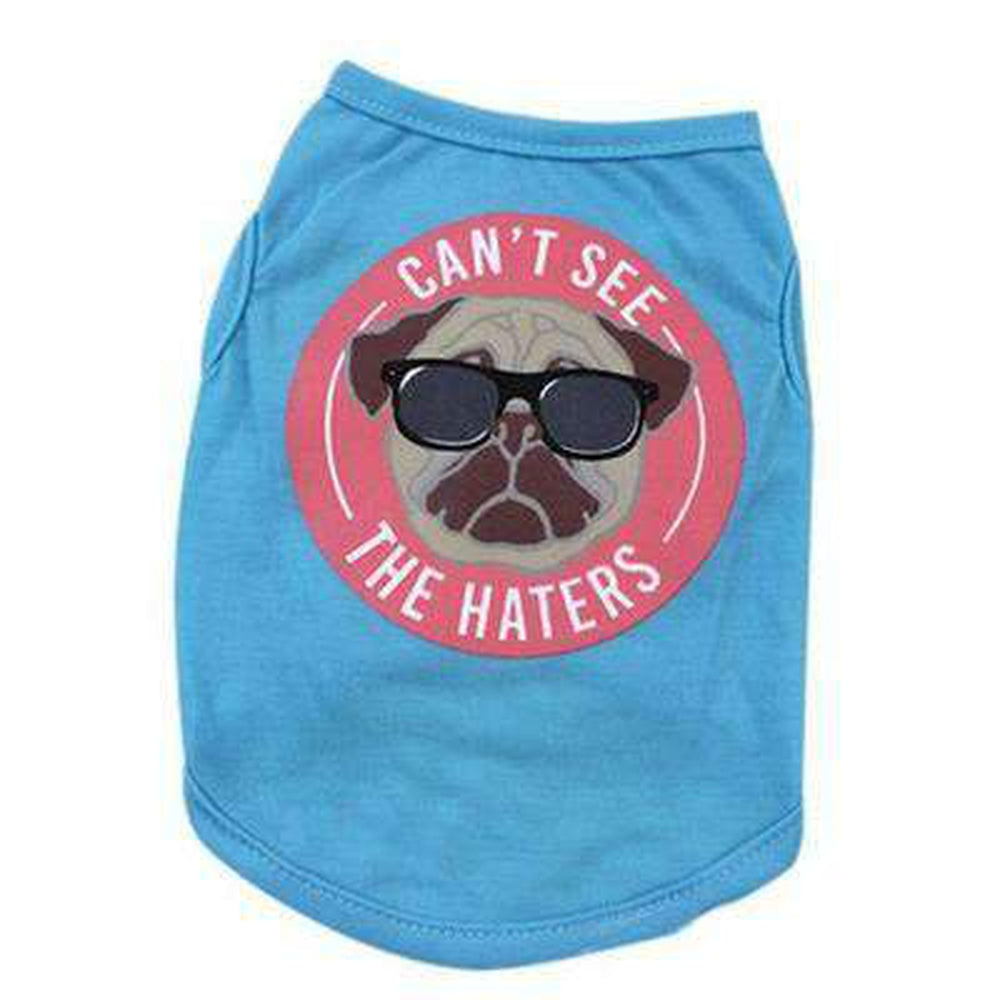 Can't See the Haters Pug T-Shirt, Pet Clothes, Furbabeez, [tag]