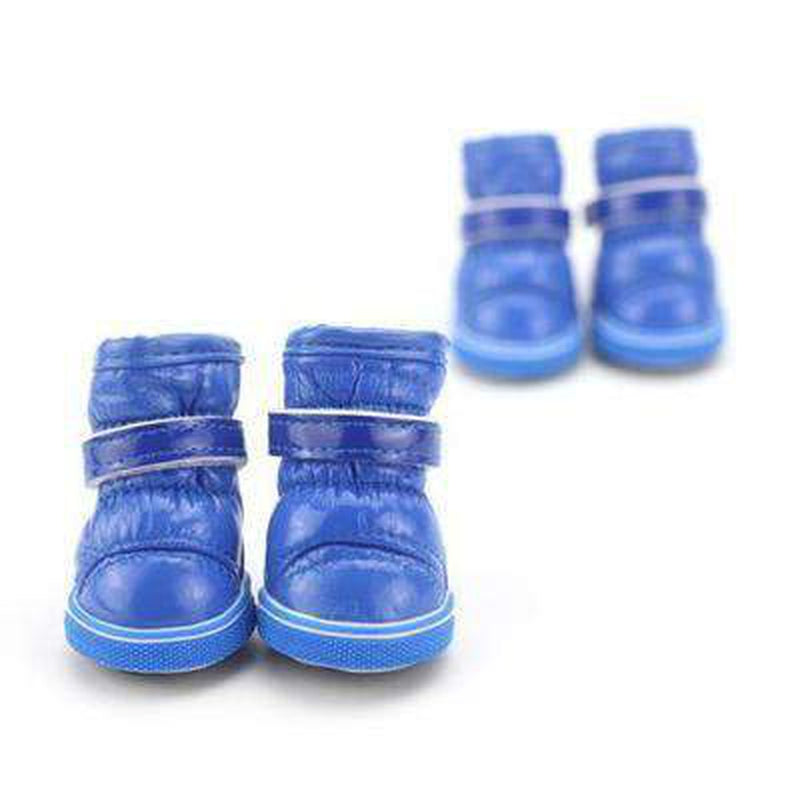 Puffy Dog Snow Boots Pet Clothes Oberlo Blue L