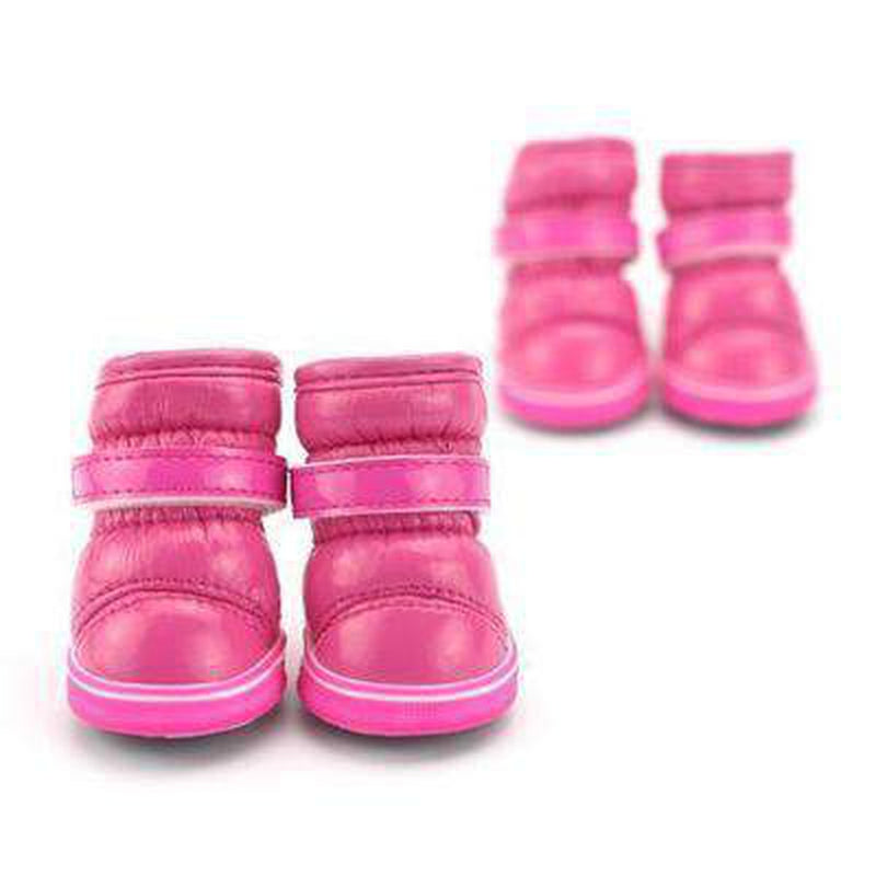 Puffy Dog Snow Boots Pet Clothes Oberlo Pink L