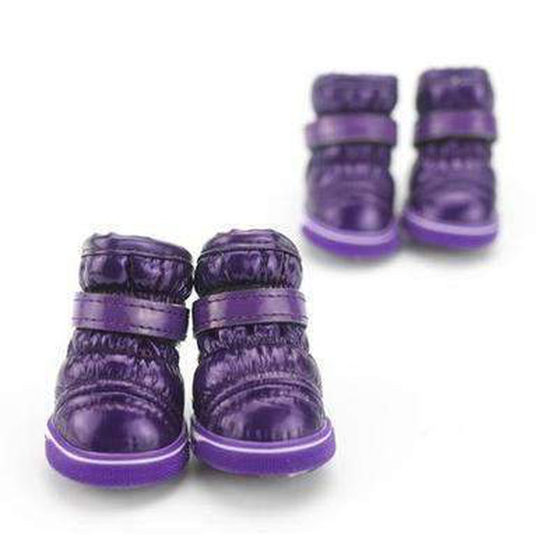 Puffy Dog Snow Boots Pet Clothes Oberlo Purple L