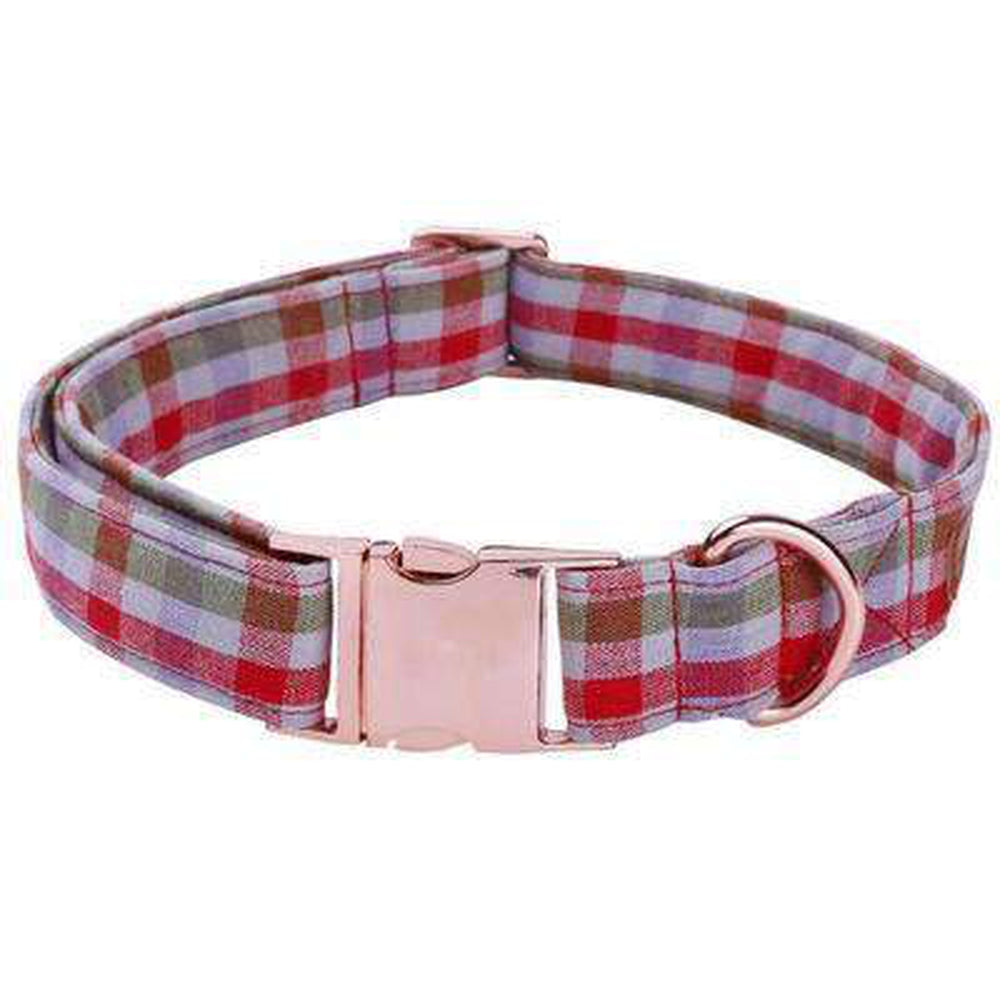 Plaid Dog Collar and Leash Set, Pet Accessories, Furbabeez, [tag]