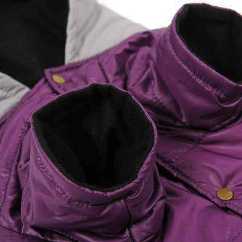 Big Dog Purple Puffy Hoodie, Pet Clothes, Furbabeez, [tag]