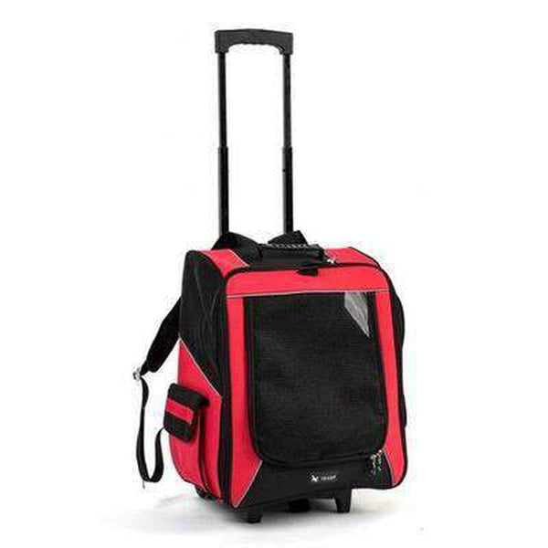 On-The-Go Rolling Backpack Pet Carrier Pet Accessories Oberlo Red