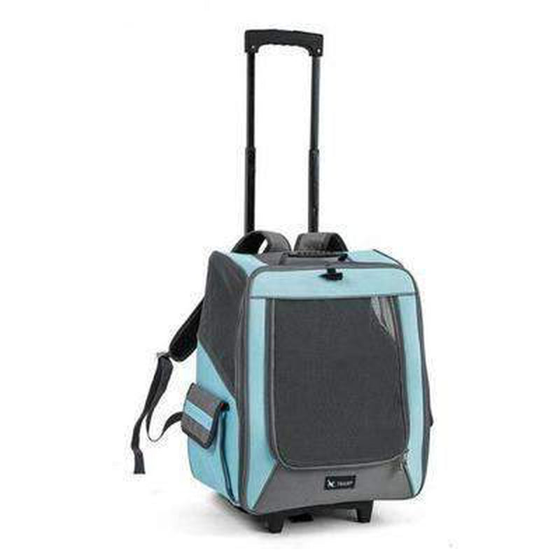 On-The-Go Rolling Backpack Pet Carrier Pet Accessories Oberlo Turquoise