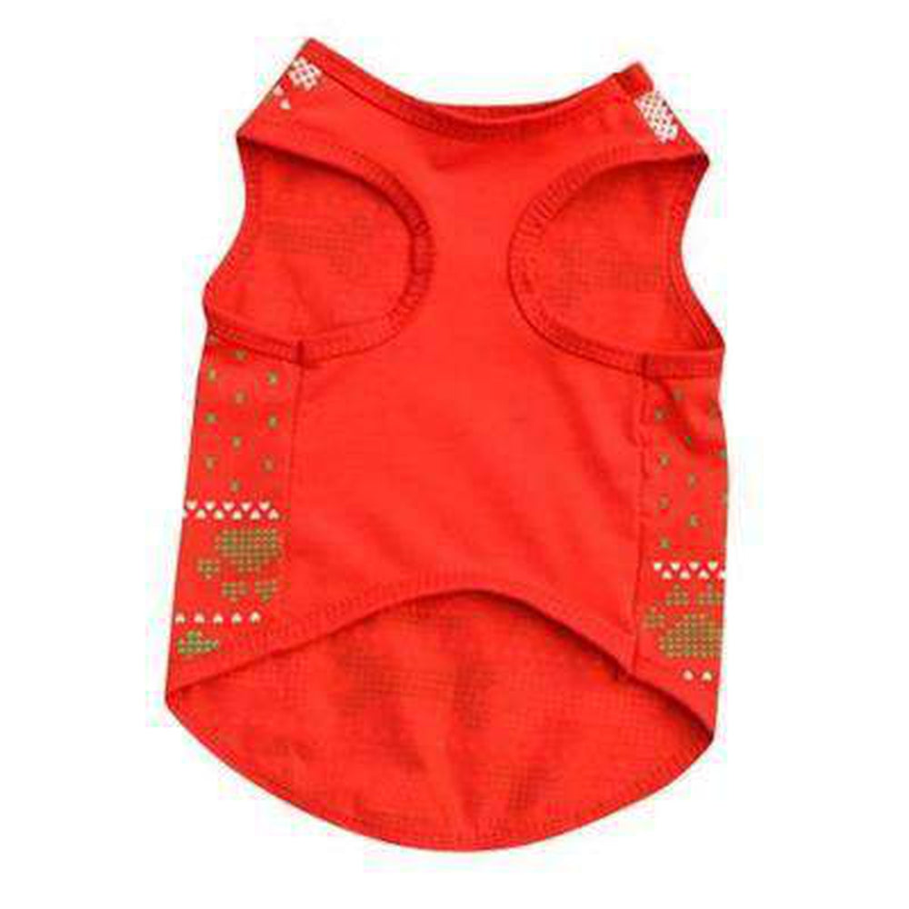 Red Christmas Bones Santa Paws Dog Tank