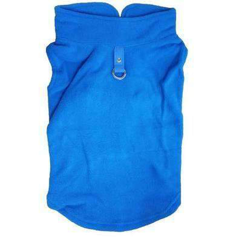 Winter Fleece Vest with D-Link Pet Clothes Oberlo Blue L