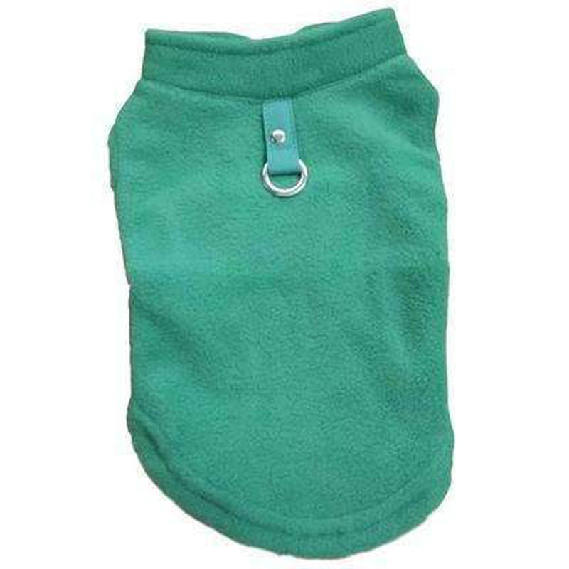Winter Fleece Vest with D-Link Pet Clothes Oberlo Green L