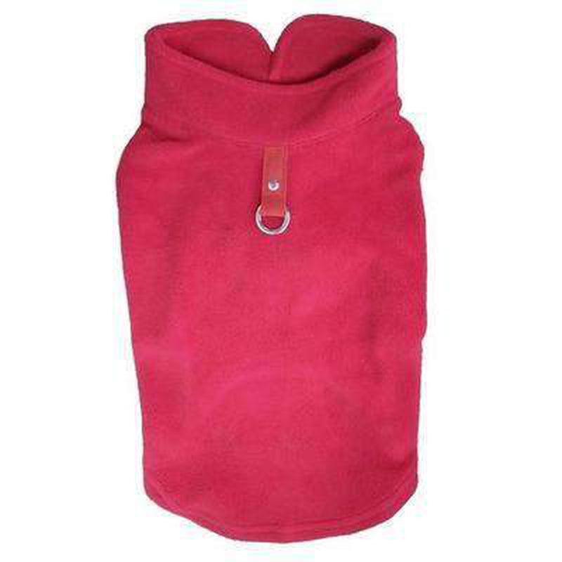Winter Fleece Vest with D-Link Pet Clothes Oberlo Red L