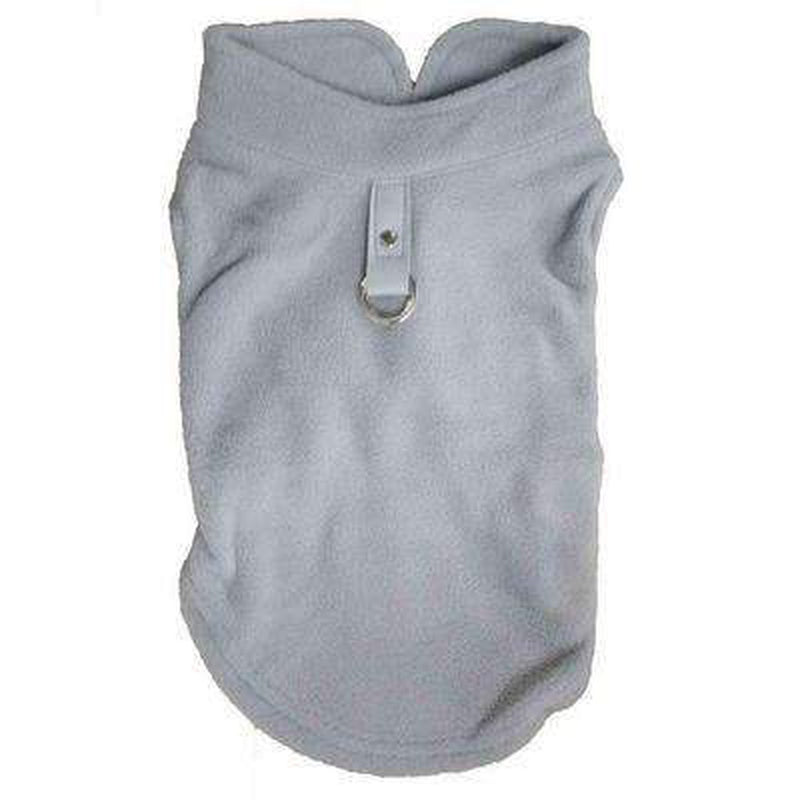 Winter Fleece Vest with D-Link Pet Clothes Oberlo Grey L