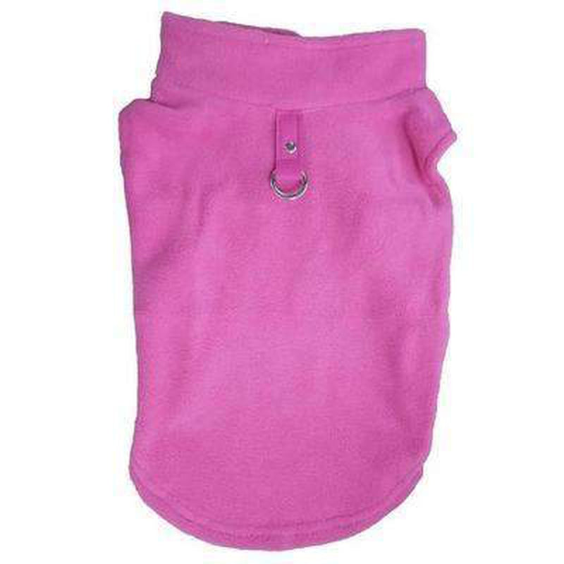 Winter Fleece Vest with D-Link Pet Clothes Oberlo Pink L