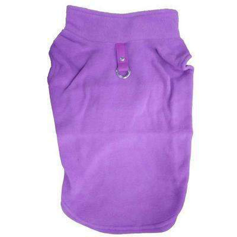 Winter Fleece Vest with D-Link Pet Clothes Oberlo Purple L