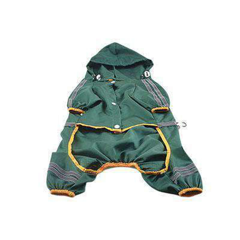 Reflective Single Layer Rain Slicker Suit Pet Clothes Oberlo Green XS