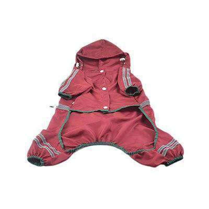 Reflective Single Layer Rain Slicker Suit Pet Clothes Oberlo Red XS