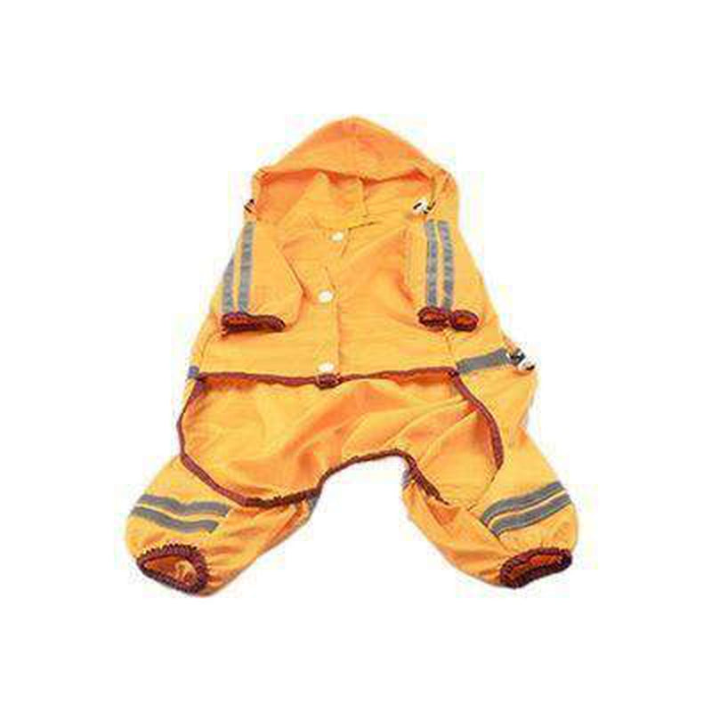 Reflective Single Layer Rain Slicker Suit Pet Clothes Oberlo Yellow XS