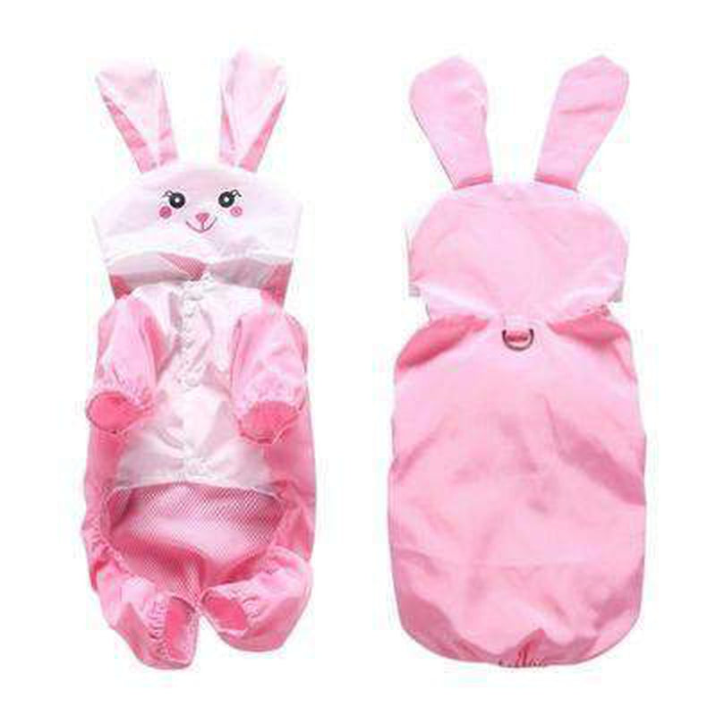 Cute Bunny Dog Rainsuit, Pet Clothes, Furbabeez, [tag]